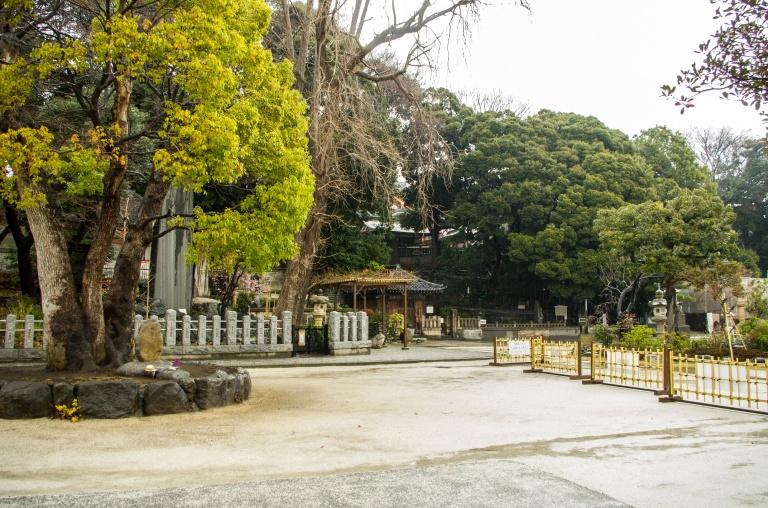 Inside of the Ryusenji Temple in Meguro
