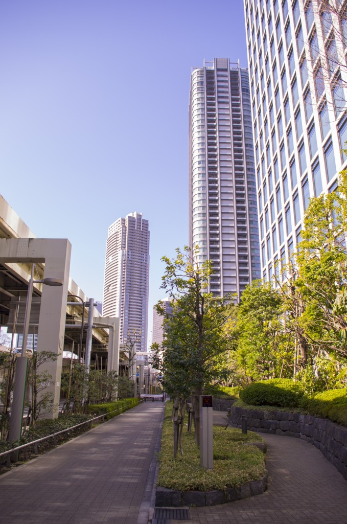Even in the heart of Tokyo you can see plenty of green spots