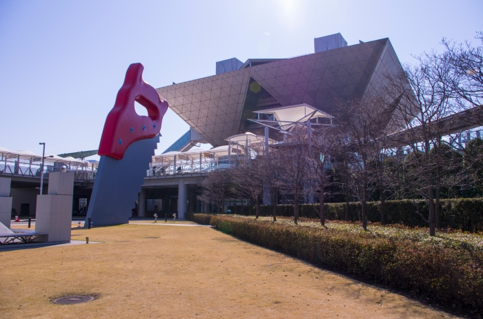 Massive saw in front of Tokyo Big Sight