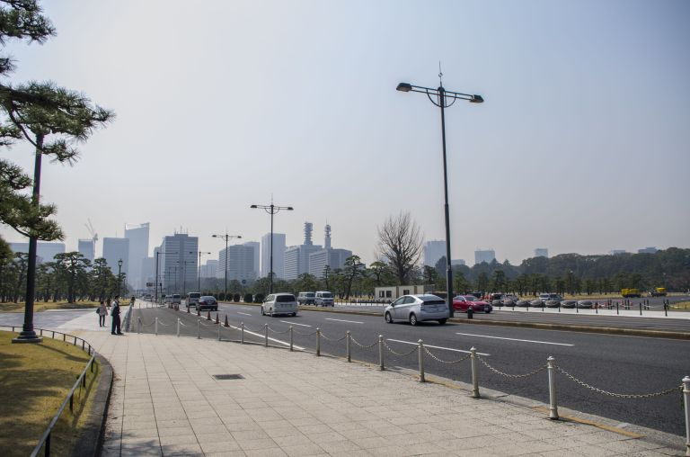 Chiyoda, close to Imperial Palace, notice the cleanliness of the streets