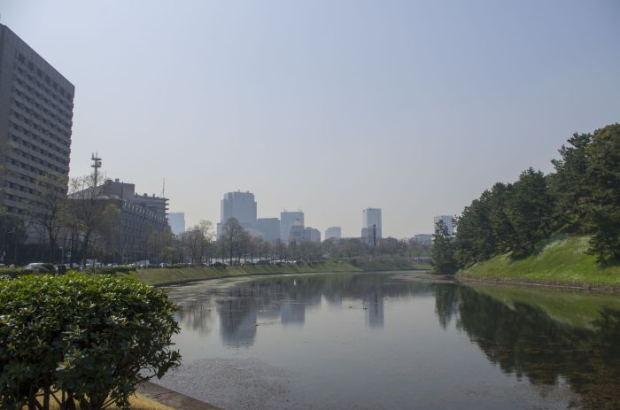 Water around Imperial Palace