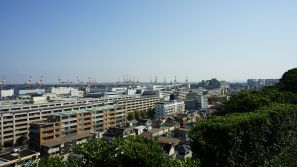 A view from Minatomieruoka Park