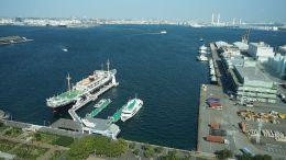 Yokohama Port from Marine Tower